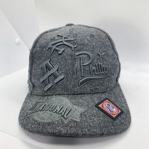 Cross Over Grey 100% Wool Embroidered Baseball Hat -8